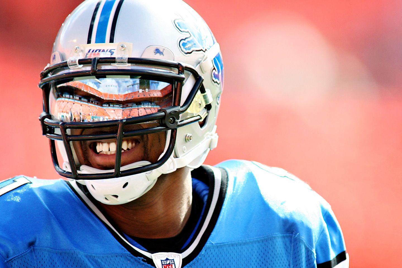 Detroit lions calvin johnson helmet football helmets