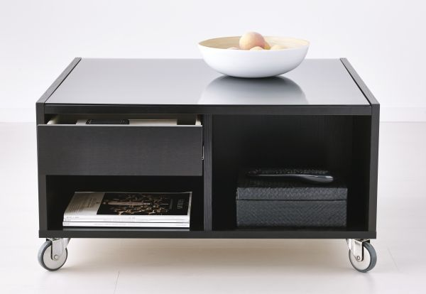 What S Worse Than No Refreshments Nowhere To Put Them The Boskel Rolling Coffee Table From Ikea Can Double As A Serving Station Right Near Action