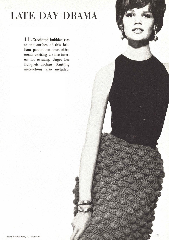 Bubble skirt 1960s crochet knitting pencil bobble popcorn 1960s crochet knitting pencil bobble popcorn pattern vintage vogue knit crocheting 1961 womans digital pdf bankloansurffo Choice Image