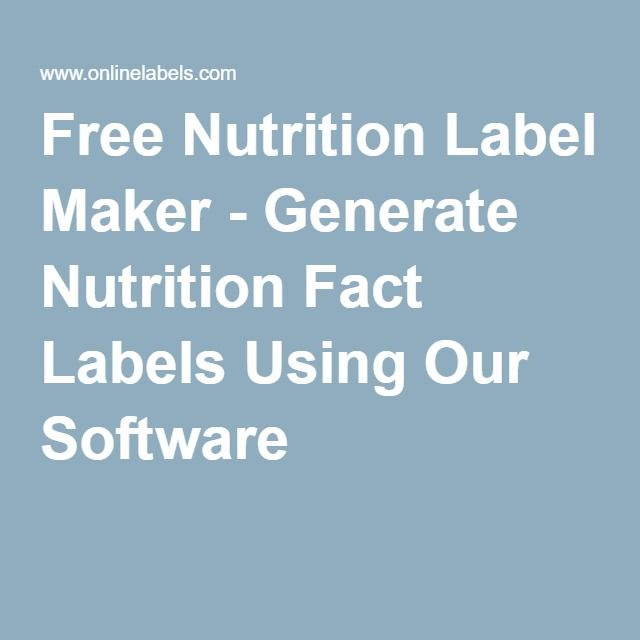 It is a picture of Juicy Nutrition Facts Label Generator Canada