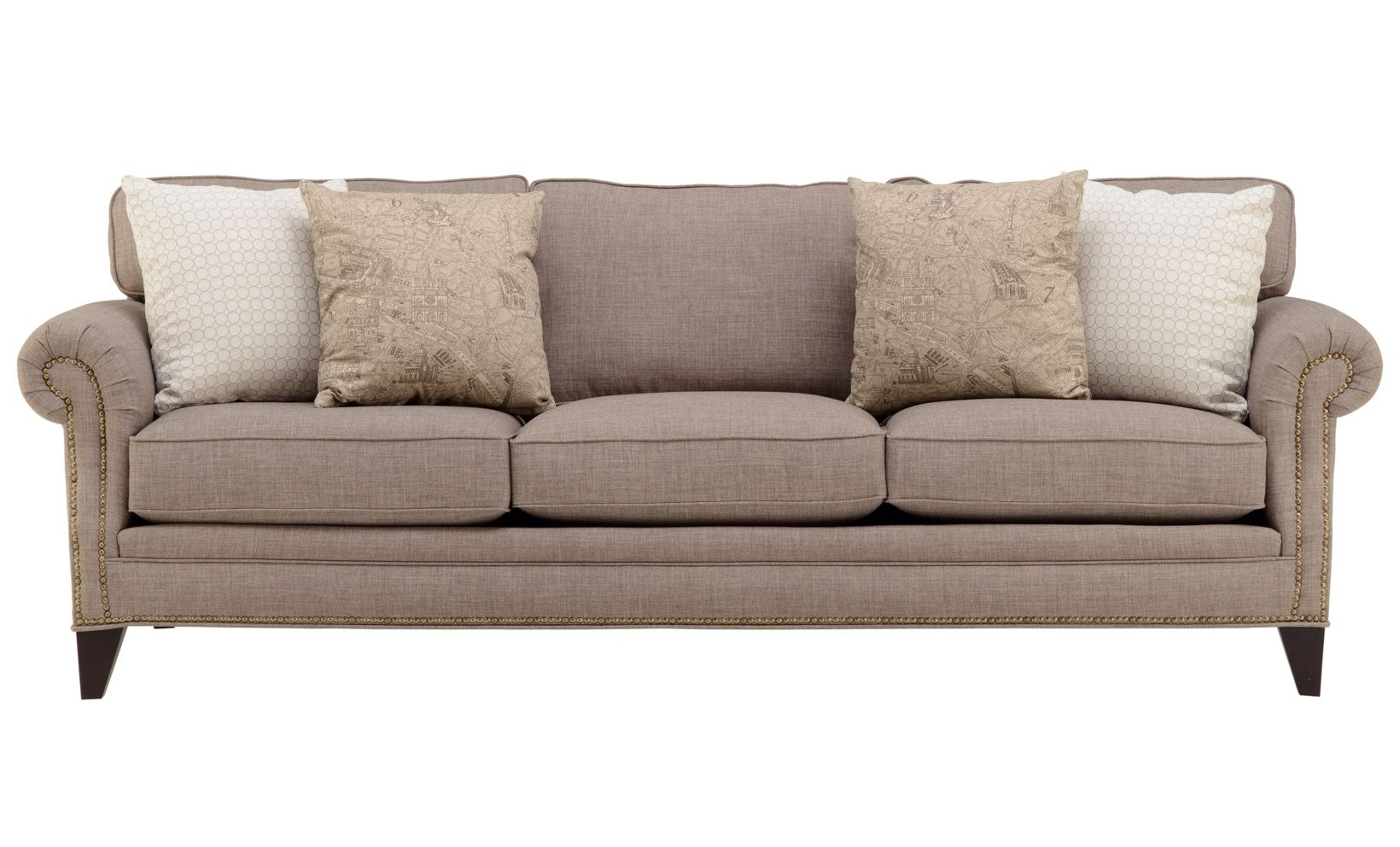 A Clic And Stunning Sofa Accented With Nailhead Trim Perfect Neutral For Your Home