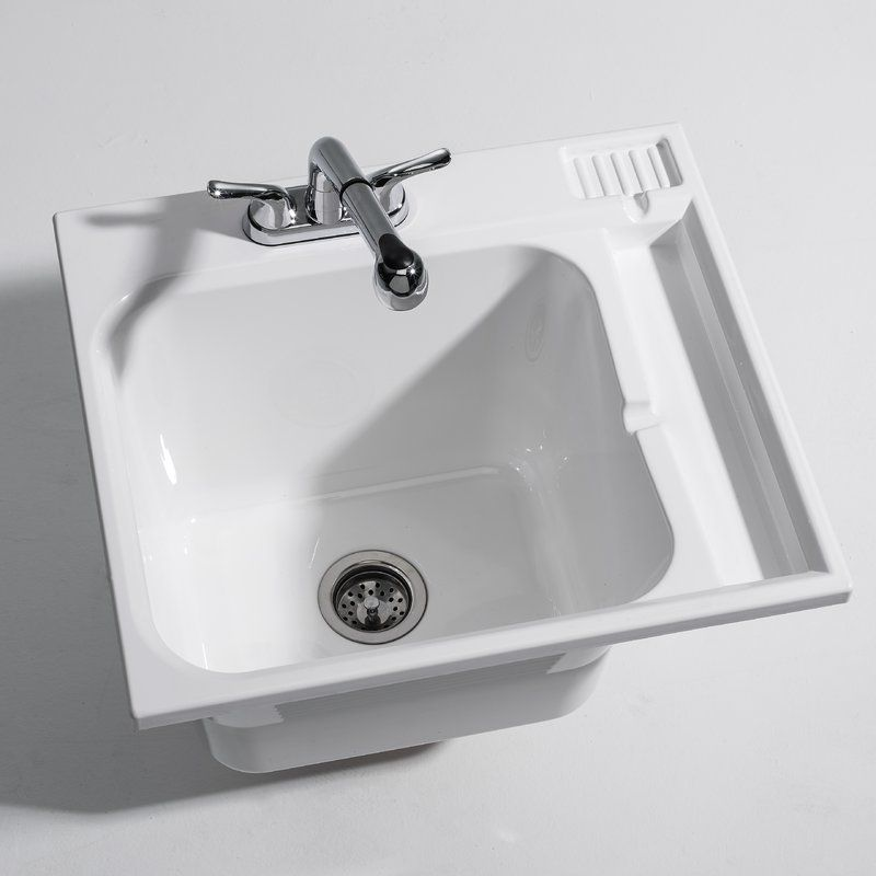 25 X 22 Drop In Laundry Sink With Faucet Laundry Room Sink