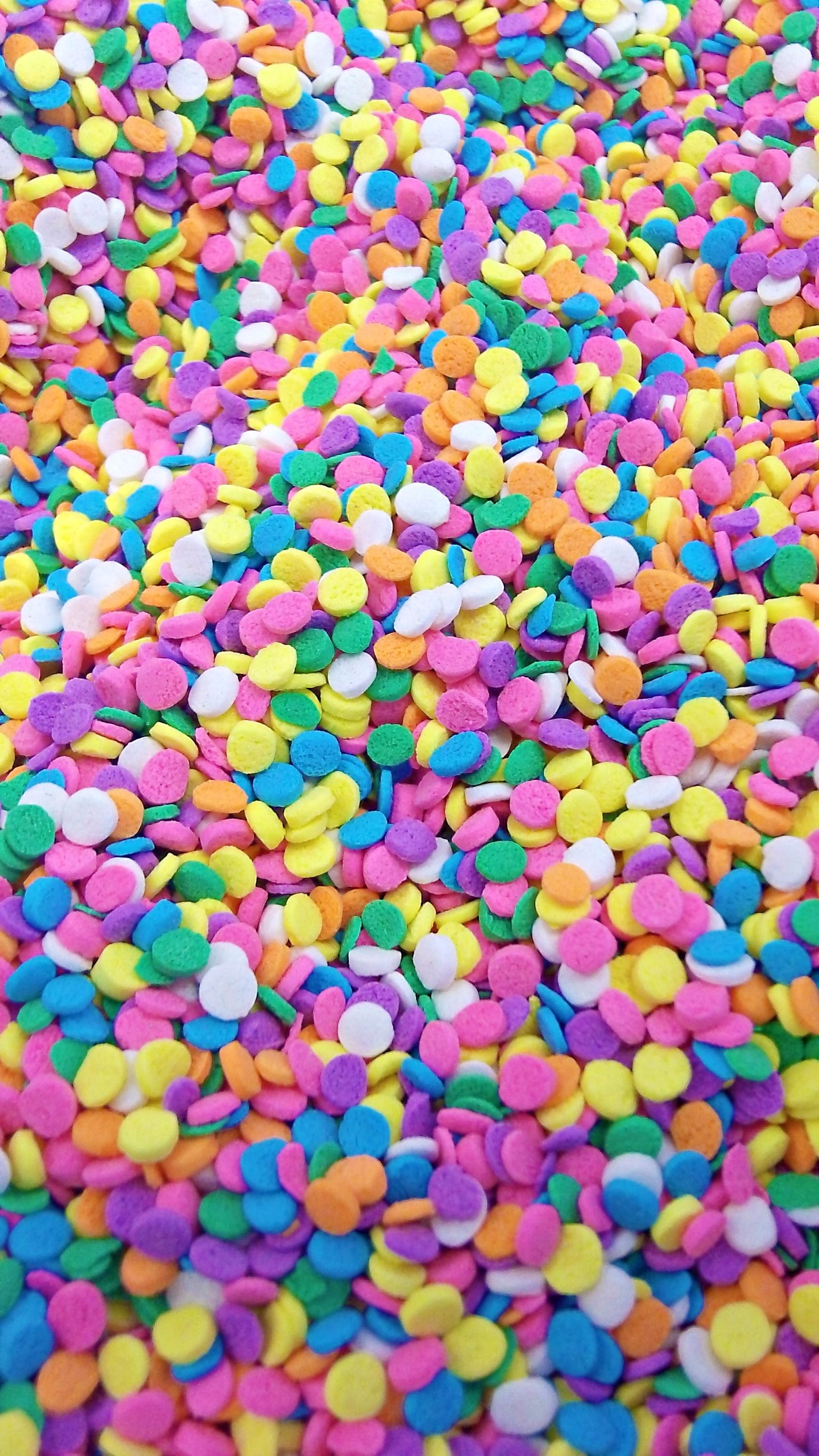 pastel confetti sprinkles to add to your new years confections