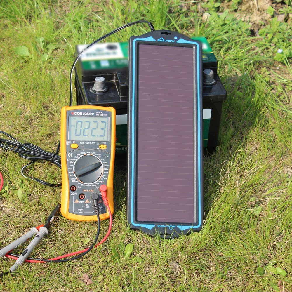 Amazon Com Solperk 12v Solar Panel Solar Trickle Charger Solar Battery Charger And Maintainer Suitable For In 2020 12v Solar Panel Solar Battery Charger Solar Panels