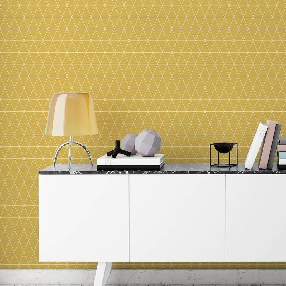 Superfresco Easy Wallpaper Triangoli Mustard Mustard