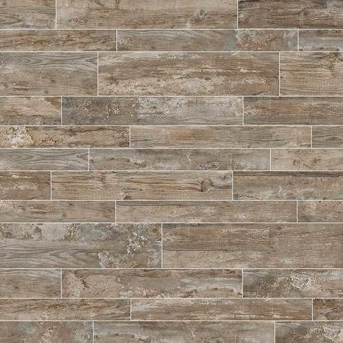 Season Wood Orchard Grey from Daltile Porcelain wood like tile - Bathrooms - Main Dining Room Flooring / Both Bathrooms ? Wine Room Product