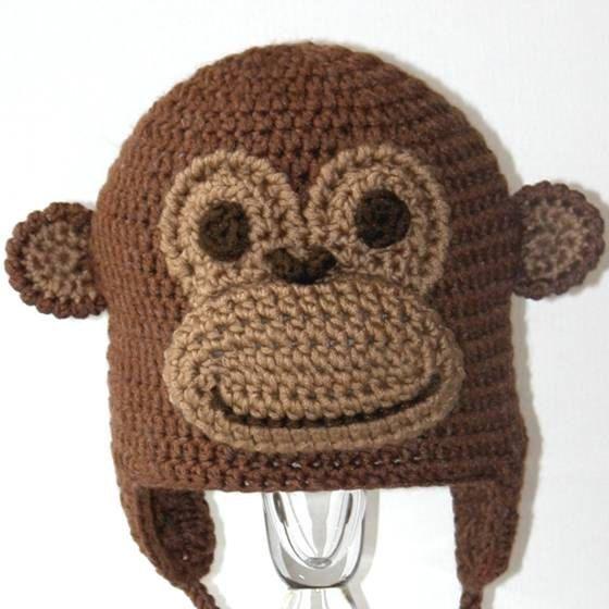 Crochet Animal Hat Pattern Montgomery the Monkey Earflap | crochet ...