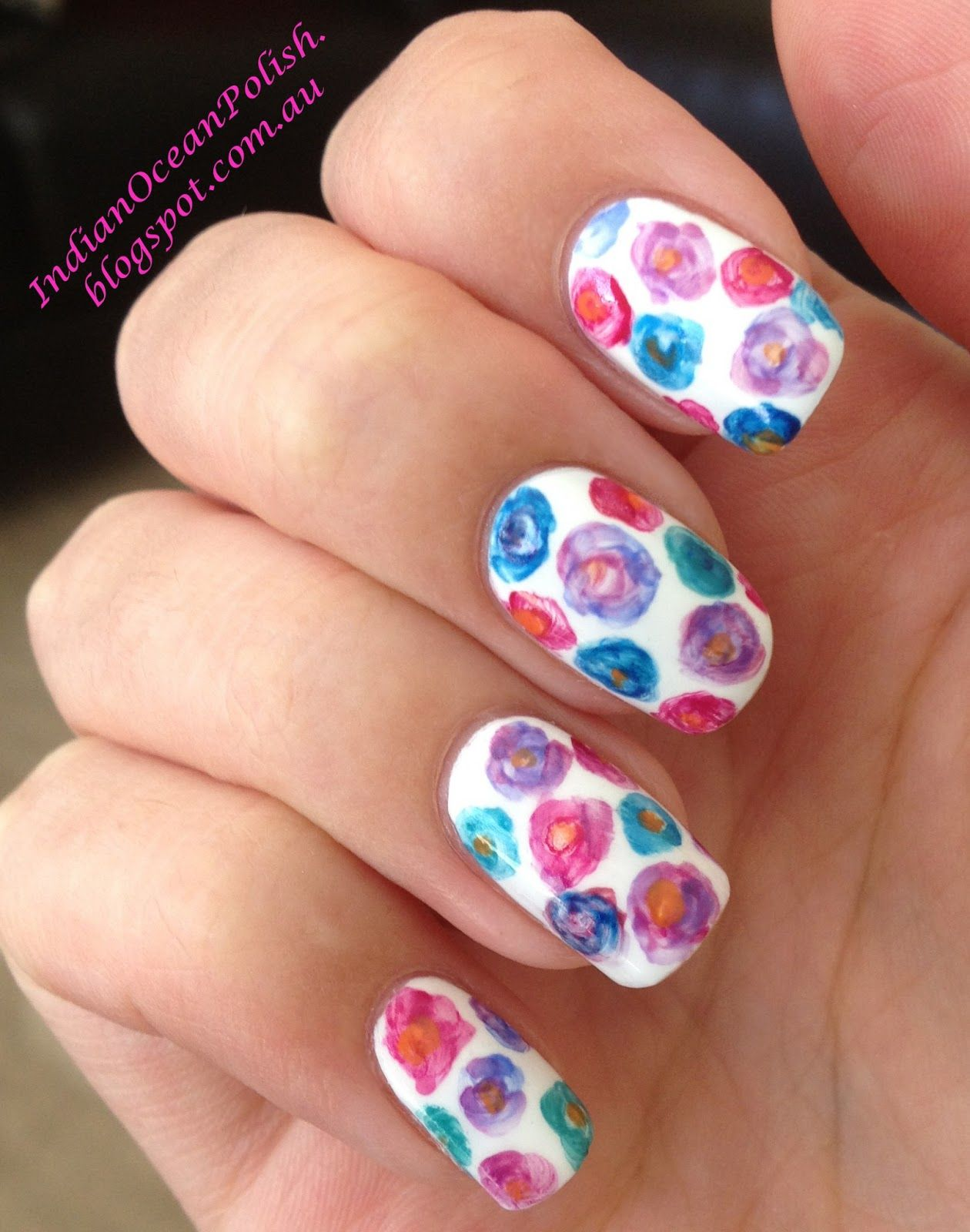 Going to try with Avon\'s nail dotting tool and speed dry nail polish ...