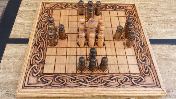 Hnefatafl Board Viking Chess Tafl King S By Fireheartdesignsmd Chess Board Viking Chess Hnefatafl