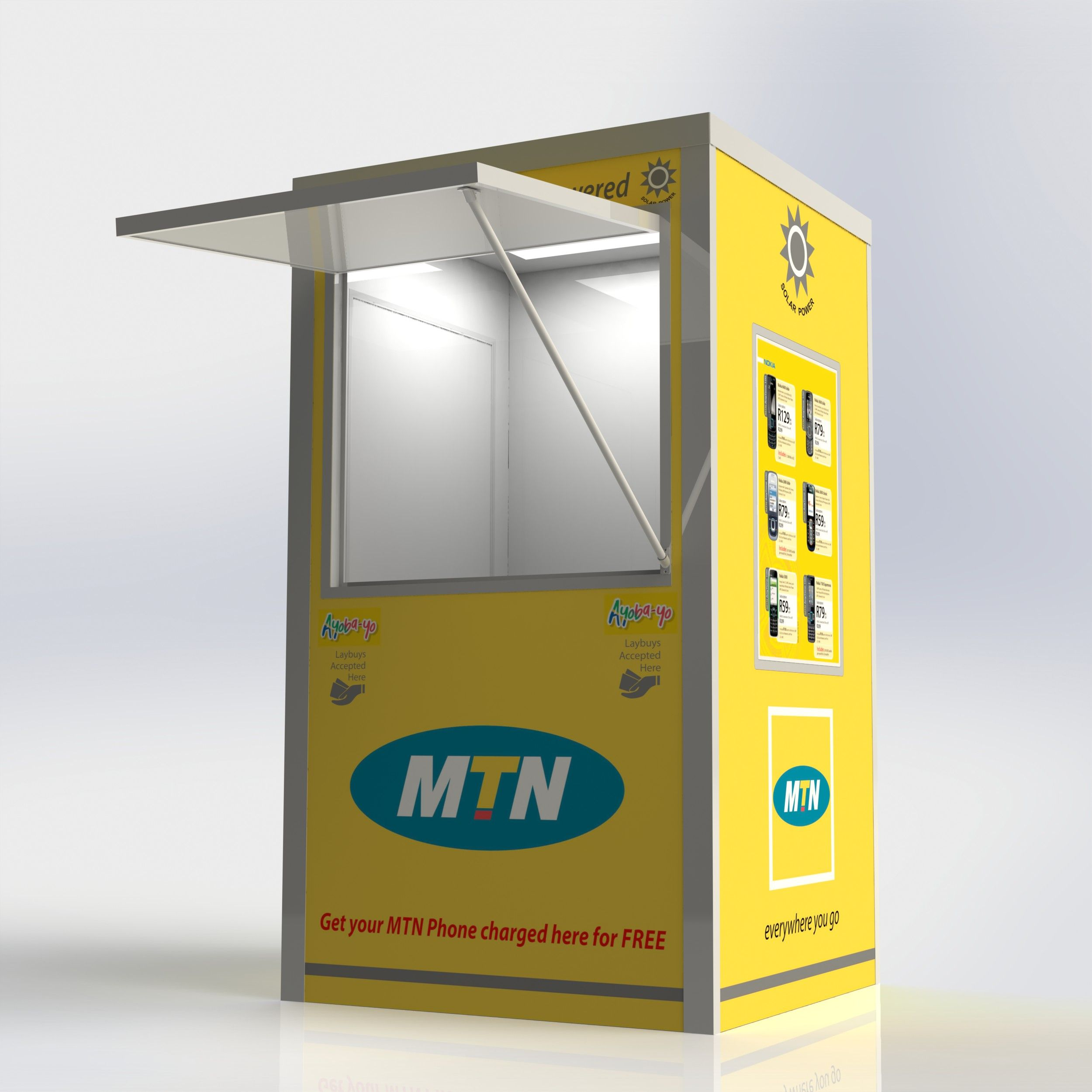 The spaza shop kiosk is now sporting a budget emerging for Mobili kios