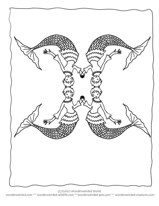 Mermaid Coloring PAges Book Echos Mermaid Pictures for
