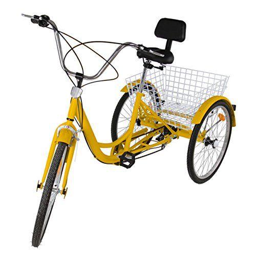 Ridgeyard 24 6 Speed 3 Wheel Adult Cycling Pedal Tricycle