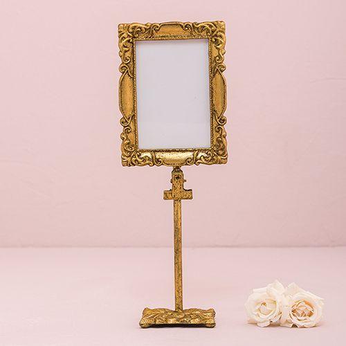 Rectangular Baroque Standing Frame - Gold - CREATIVE BAG CO LTD ...