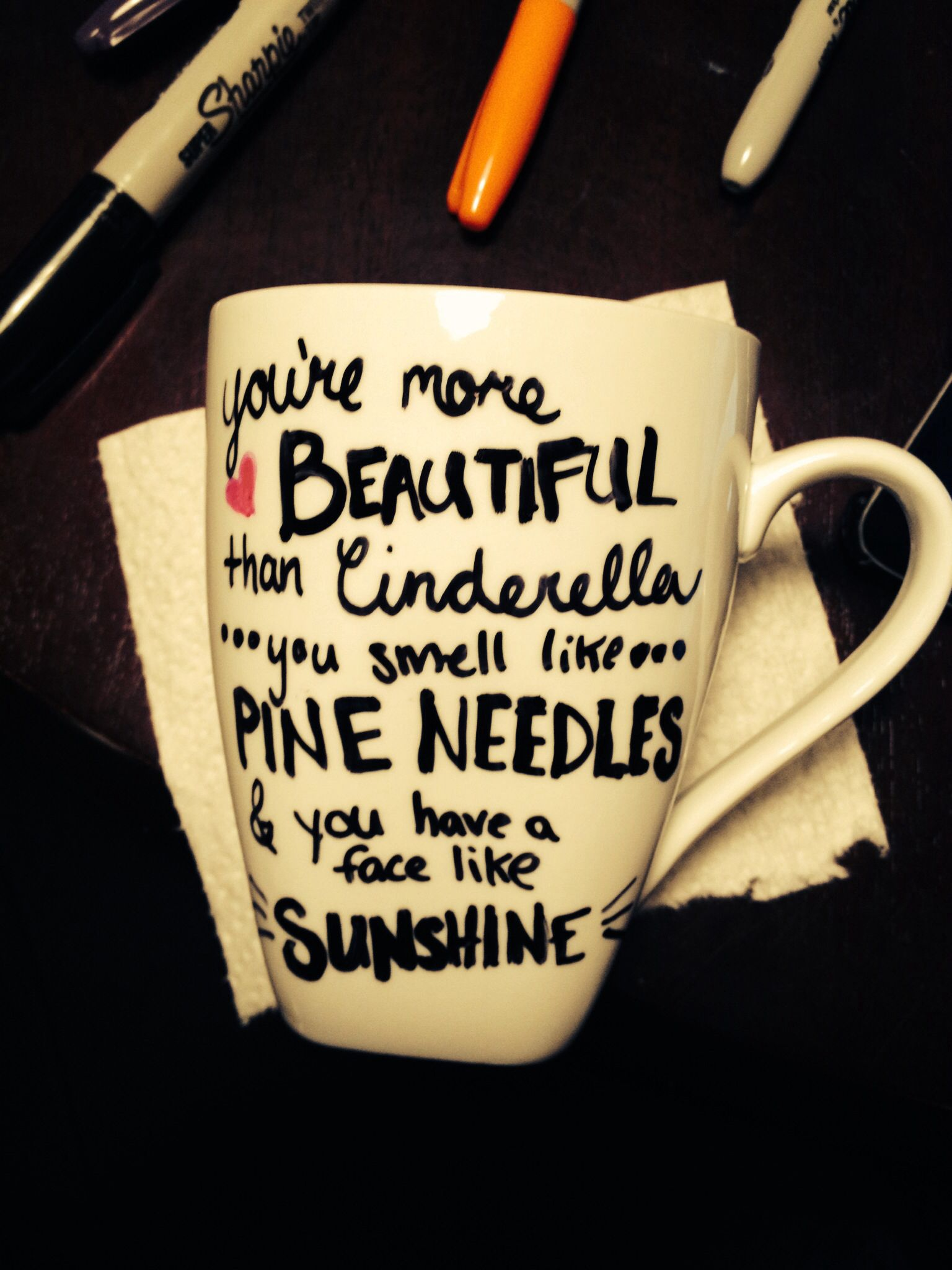 prissy ideas his and her coffee mugs. Sharpie Bridesmaid quote mug  Super easy to do and dishwasher safe Clean with