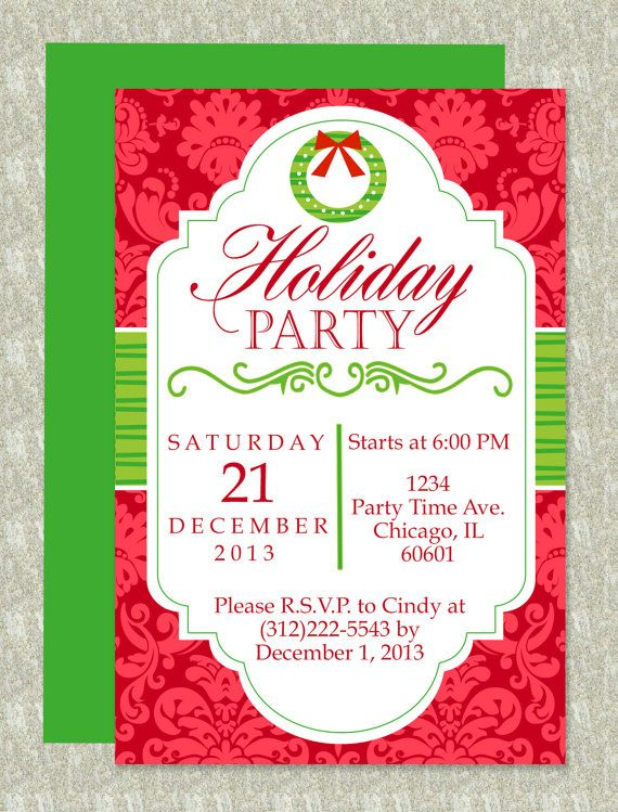 Holiday Party Invite - Download & Edit Template | Microsoft word ...