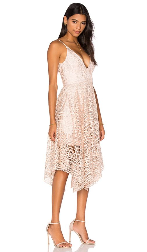 Shop for NICHOLAS Geo Floral Lace Ball Dress in Antique Pink at REVOLVE. Free 2-3 day shipping and returns, 30 day price match guarantee.