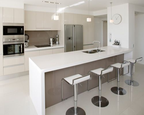 Breathtaking Kitchen Units For Small Kitchens With Agreeable Pic:  Captivating Modern U Shaped Kitchen Design Using Floorboards As Mesmerizing  Desigu2026