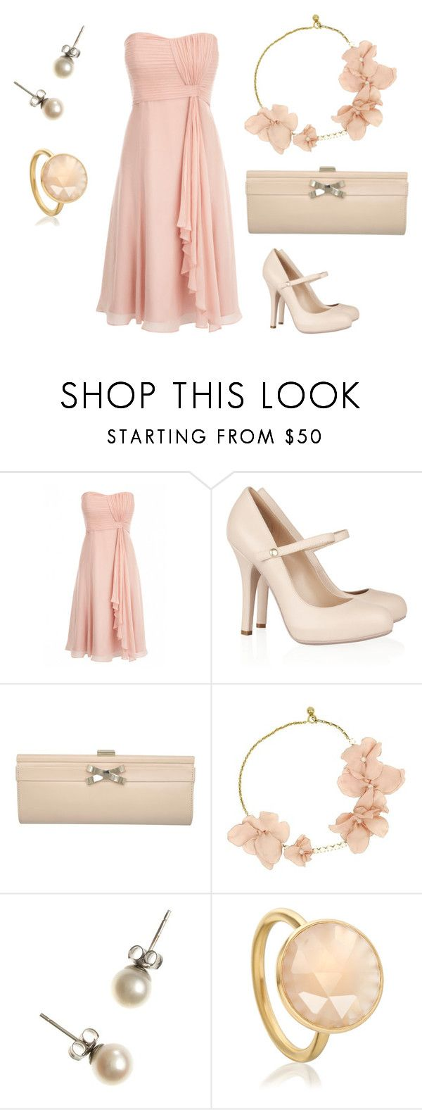 """""""One Dress, Four Ways"""" by annieg-1 ❤ liked on Polyvore featuring Dolce&Gabbana, Dune, Lanvin, J.Crew, Astley Clarke and pretty in pink"""