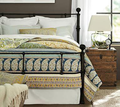 Mendocino Metal Bed, King, Dark Brass finish | Muebles dormitorio ...