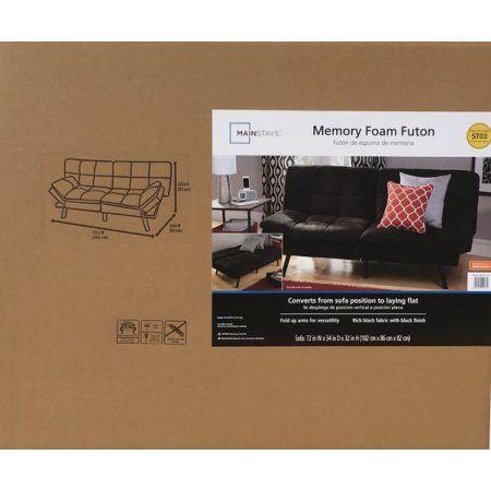 Mainstays Memory Foam Futon, Multiple Colors