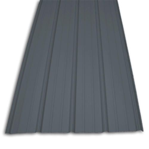Best Charcoal Grey Roof Pine Wood Siding White Trim And Stone Post Premium Pro Rib Steel Panel 400 x 300