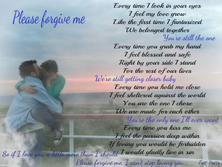 Forgive poems short me Apology Poems