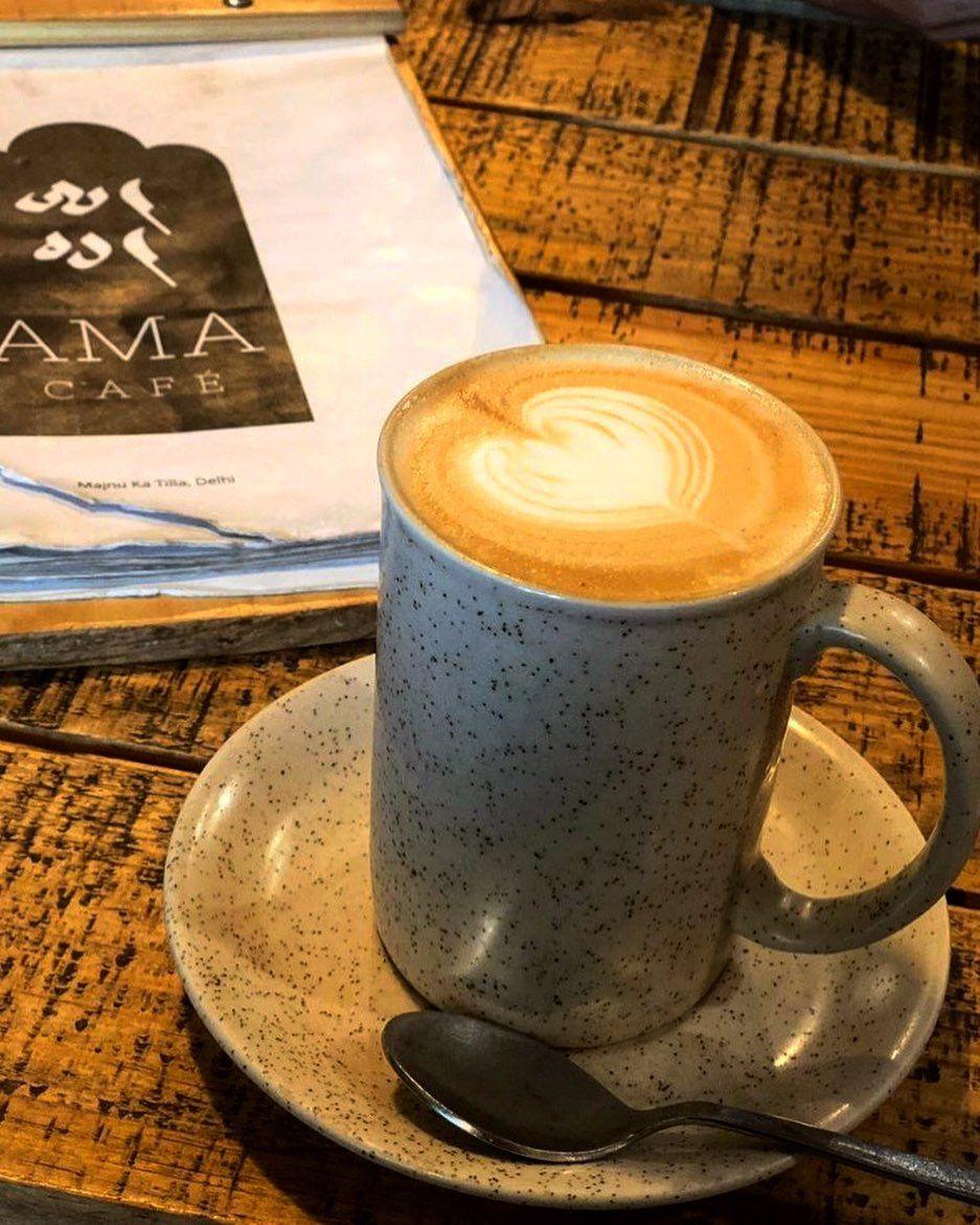 Coffee is always a good idea. ❤️ Hazelnut latte @amacafedelhi
