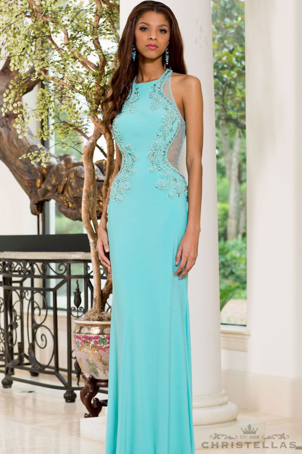 The most stunning Aqua dress we ever did see! Sean Collection 50841 ...