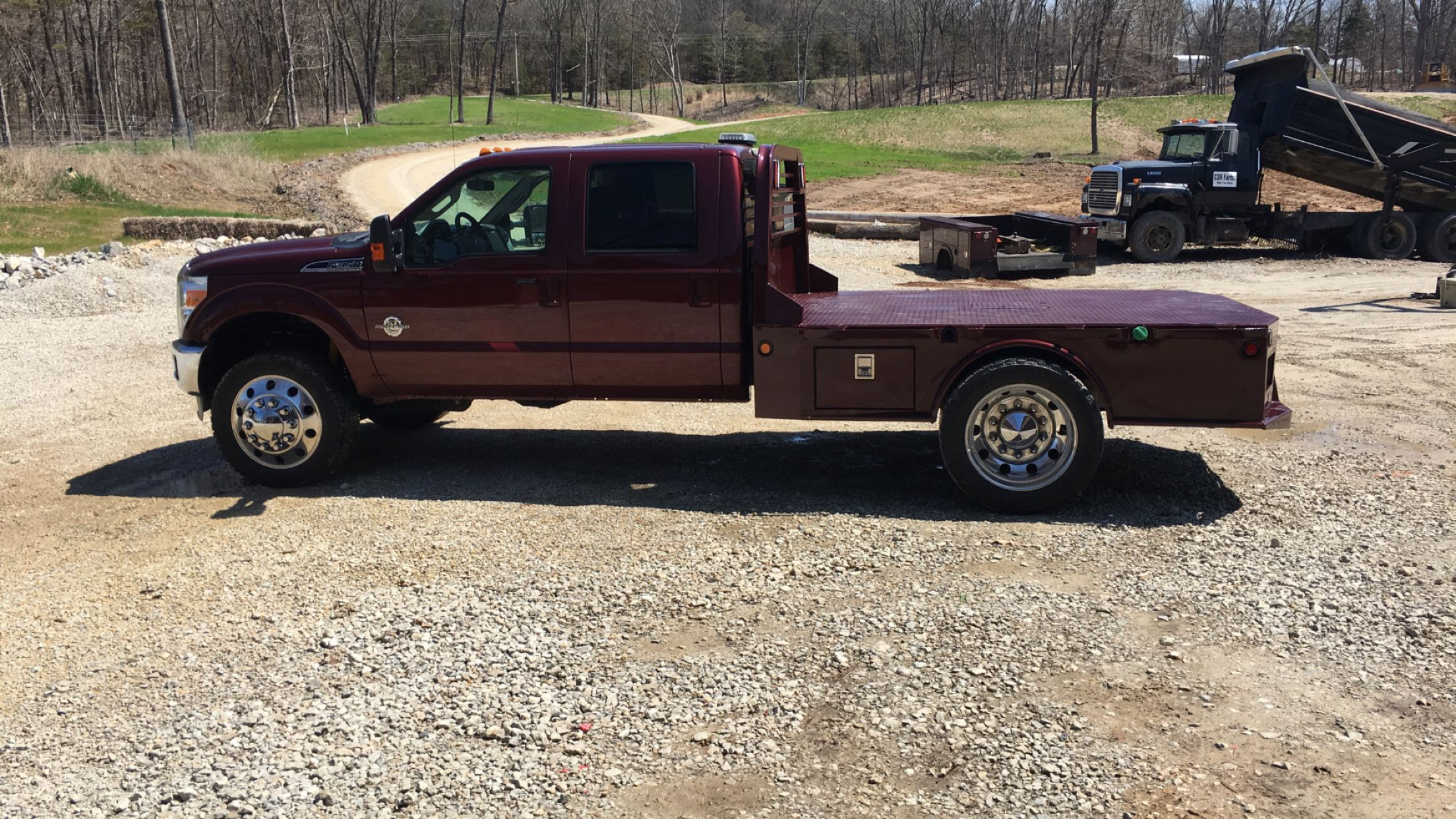 Cm Sk Paint To Match On Ford F550 Custom Truck Beds Trucks Work Trailer