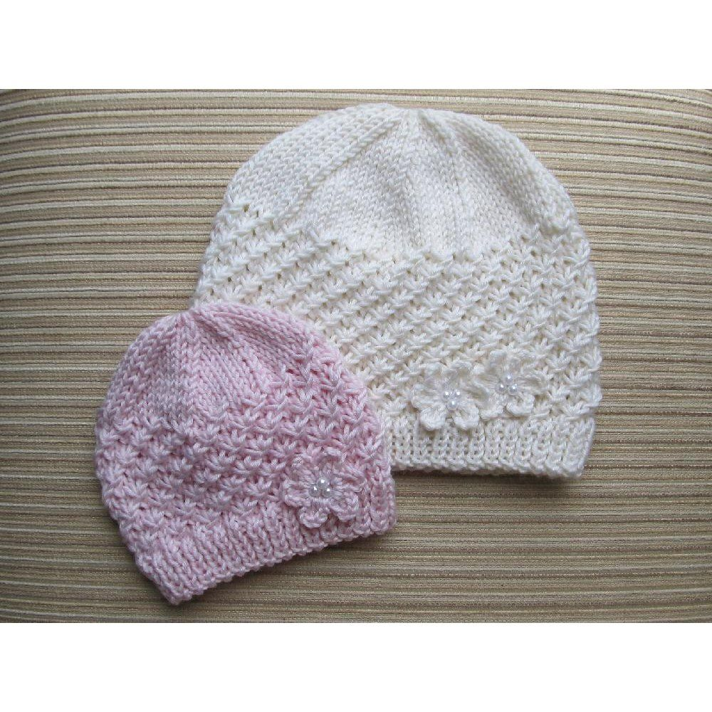 This pretty hat is made on straight needles and has a seamyarn knitting patterns this pretty hat is made on straight needles bankloansurffo Images