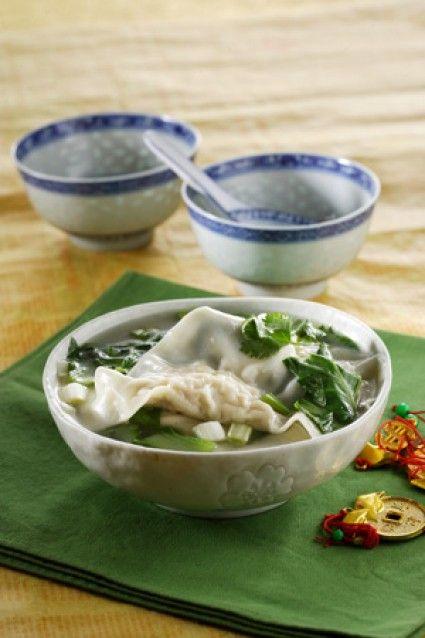 Sup Pangsit Ayam Daun Ketumbar Sajian Sedap Resep Makanan Resep Masakan Resep