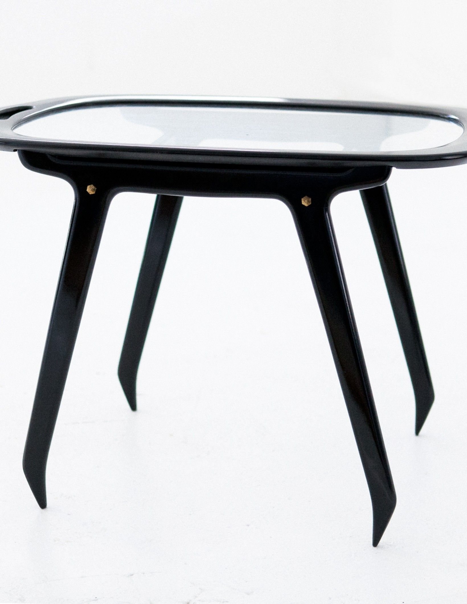 Italian Black Wood And Glass Coffee Table By Cesare Lacca 1950s T68 Red Coffee Tables Glass Floor Lamp Modern Dining Arm Chairs [ 2120 x 1640 Pixel ]