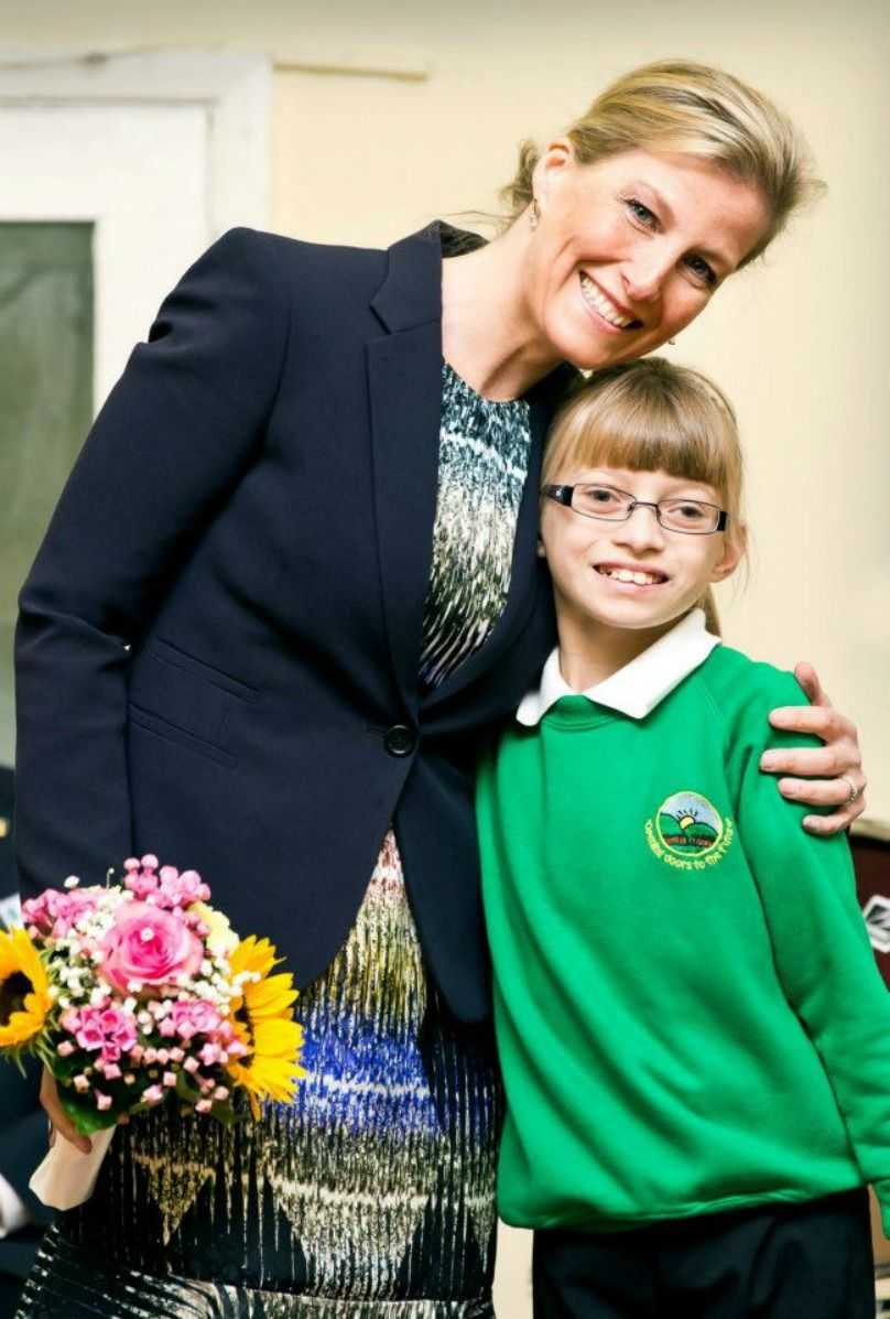 Sophie,Countess of Wessex visited Greenfield Special School in Merthyr Tydfil