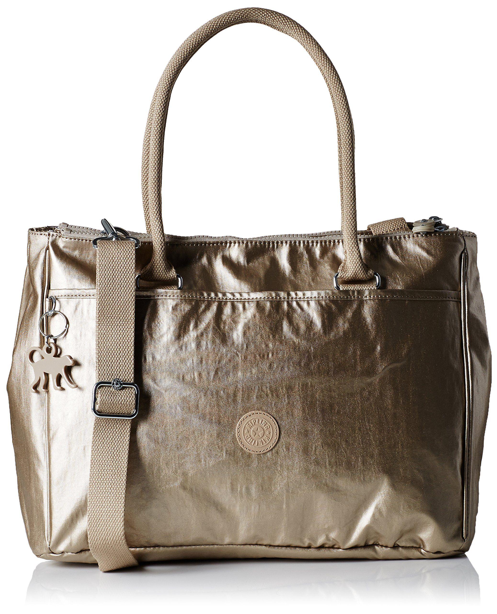Champagne Halia Bag Bp MetalBolsos New Shoulder Kipling Womens 1TFKJcl