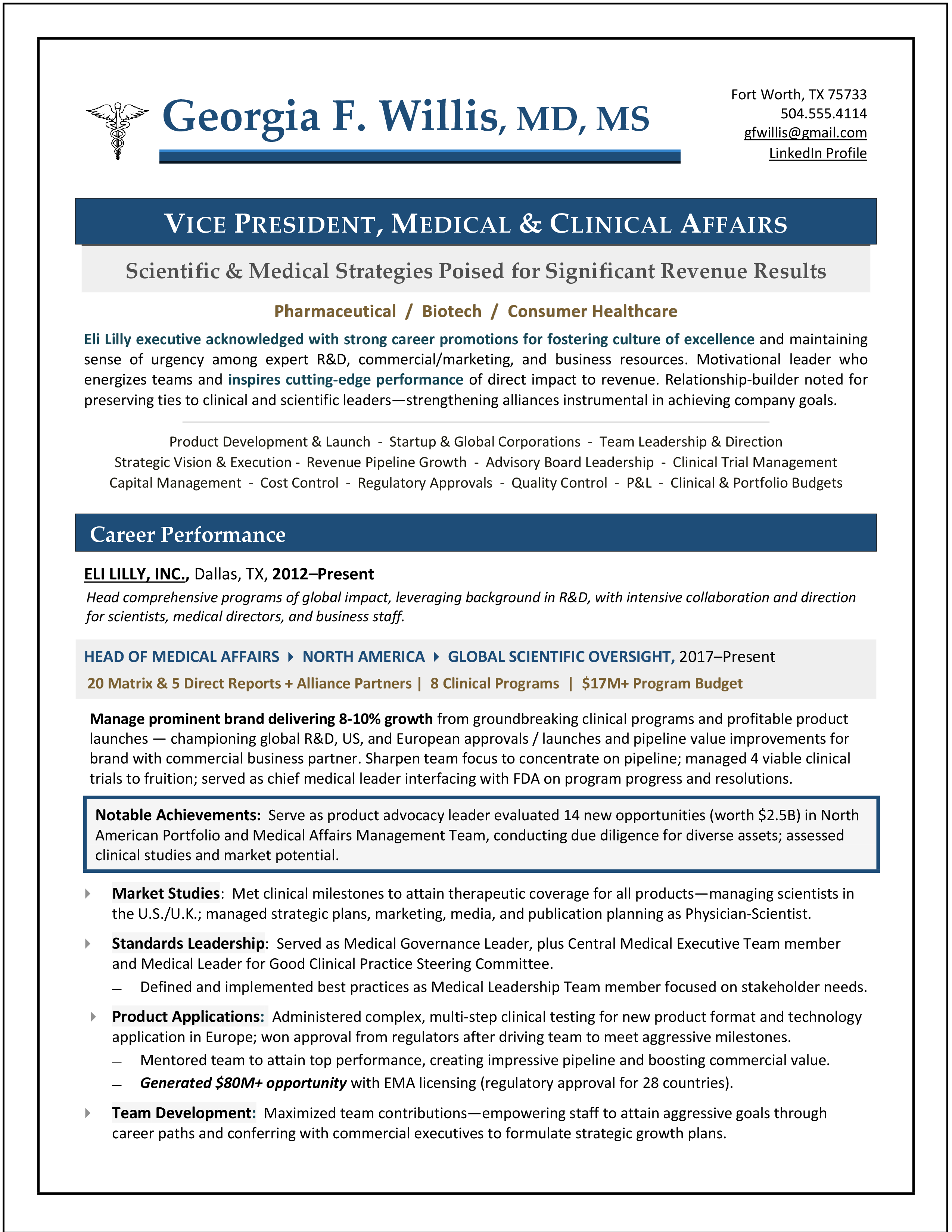 Vp Medical Affair Resume Clinical Writing Service Writer Executive Biotechnology Master Personal Statement