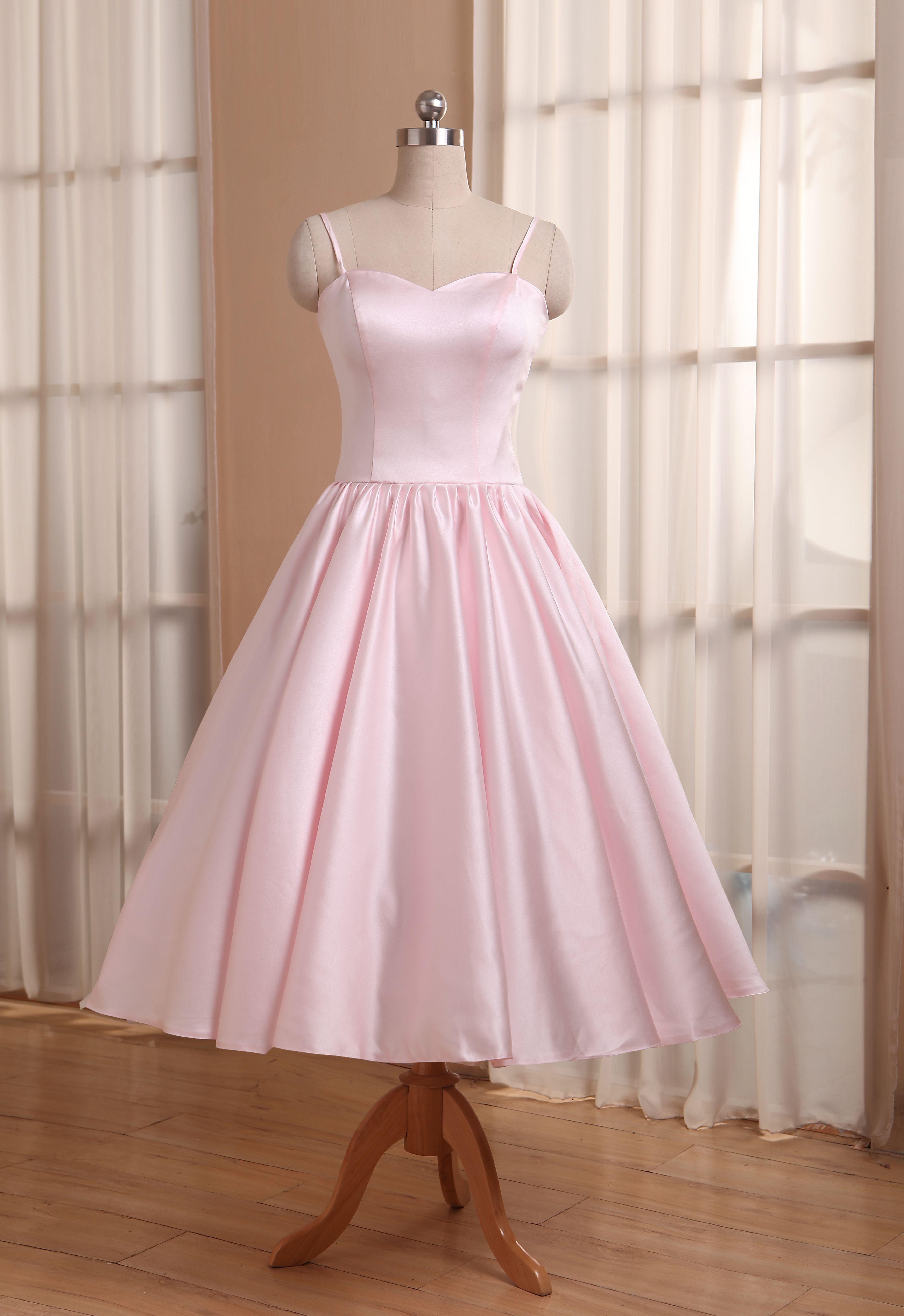 Vintage Short Wedding Dresses Tea Length Bridesmaid Dress Garden Bridal Party Pink Tea Length Bridesmaid Dresses Tea Length Dresses Plus Size Bridesmaids Gowns [ 5448 x 3744 Pixel ]