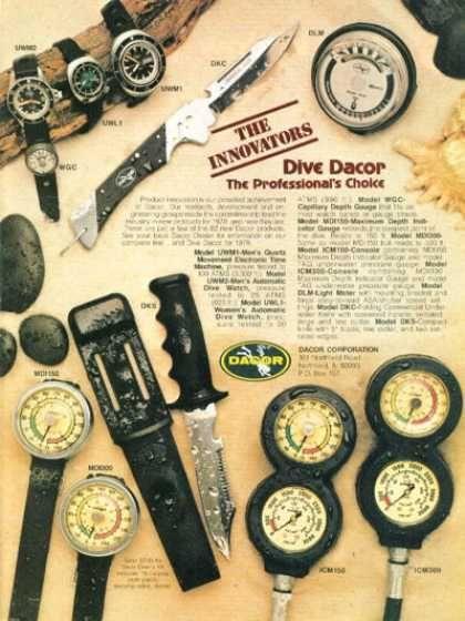 Dacor Ad Dive History Diving Scuba Diving Gear