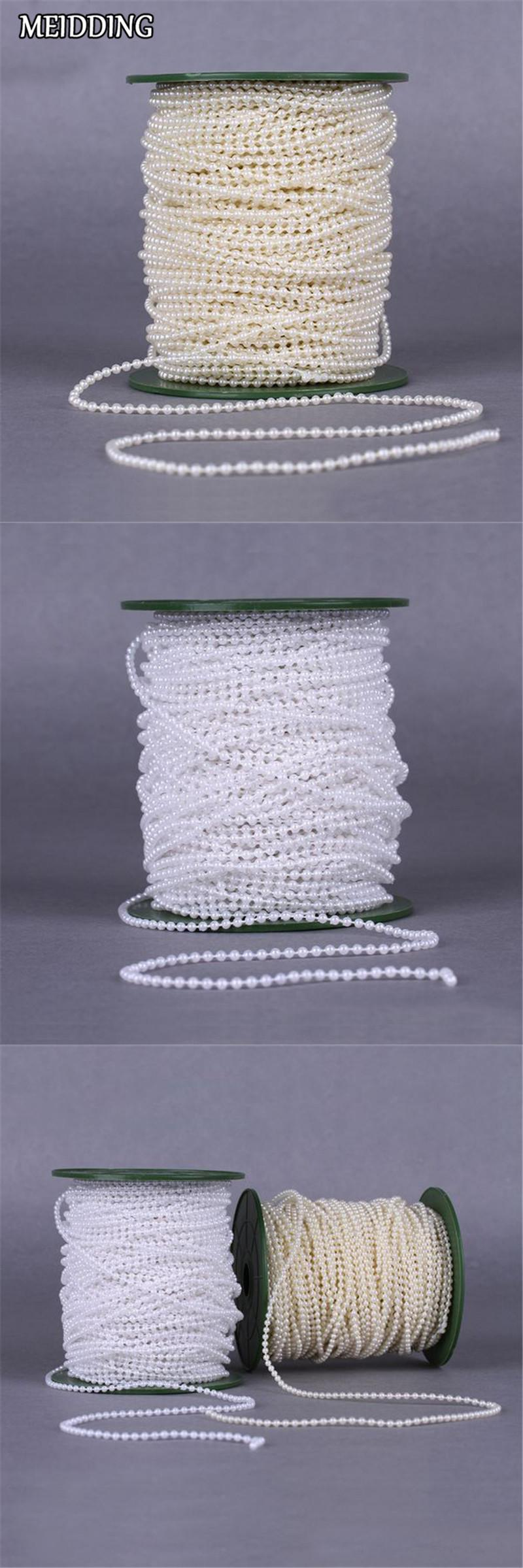 Meidding 10 meters 3mm pearl beads line chain pearls garland for meters pearl beads line chain pearls garland for wedding room decoration supplies bridal bouquet accessories junglespirit Image collections