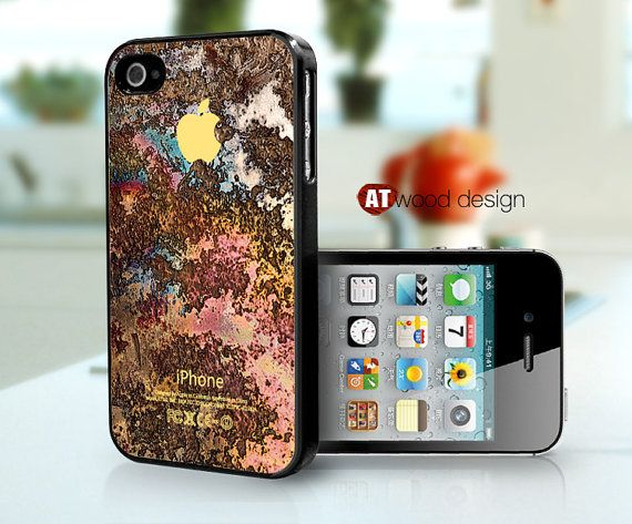 iphone 4 case iphone 4s case black  iphone 4 cover by Atwoodting, $13.99