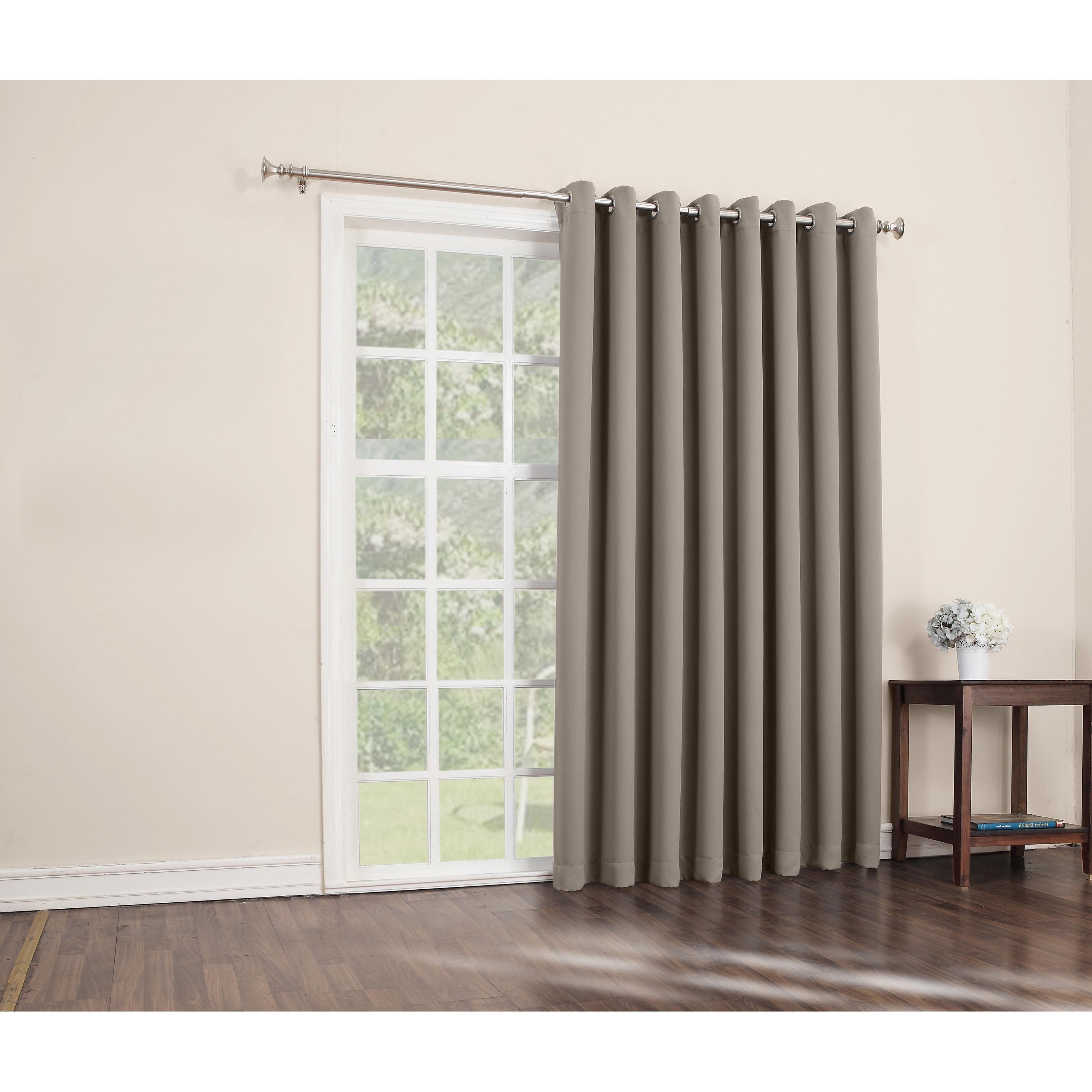 Sun Zero Hayden Grommet Blackout Patio Door Window Curtain Panel Patio Door Curtains Curtain For Door Window Patio Curtains