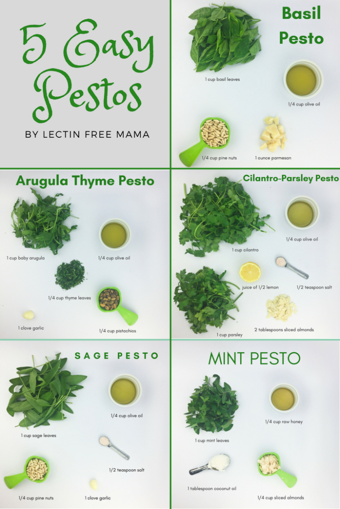 Pesto Time: 5 Easy Recipes from Basic Basil to Min
