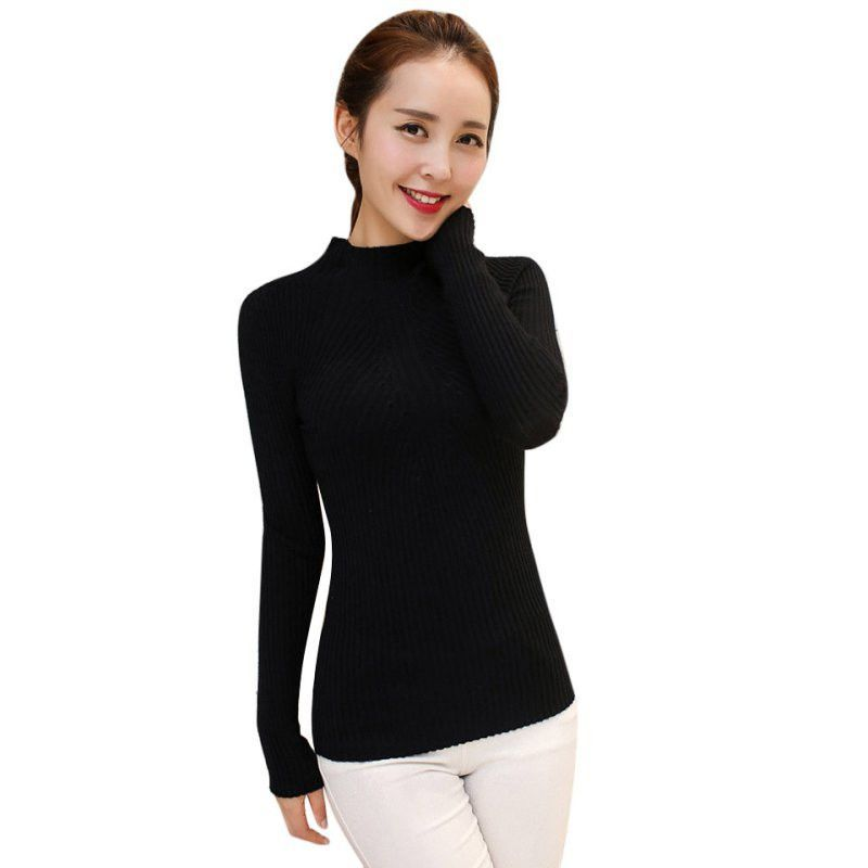 COCKCON solid knitwear bayan kazak dames kleding maglione donna jerseis knitted shirt turtlneck jumper pull femme sweaters