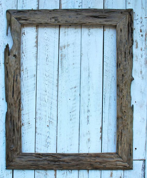 18x24 Rustic driftwood reclaimed wood picture frame | Product ...