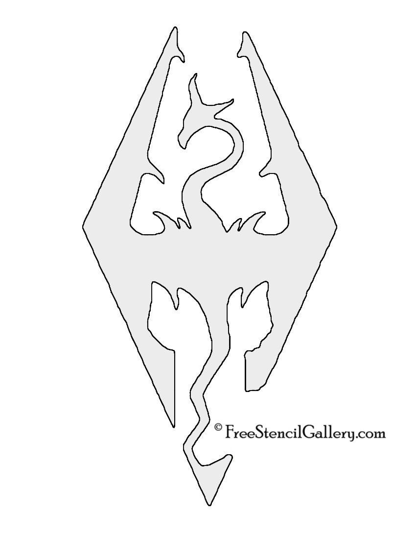 Skyrim Logo Stencil Nerd Life Stenc