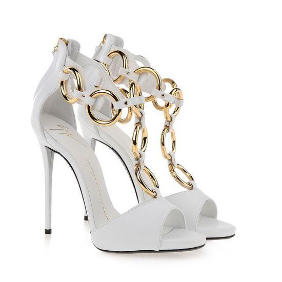 giuseppe zanotti sandals shop white leather 120mm