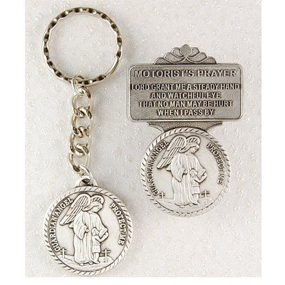 Religious Guardian Angel Keychain Key Ring & Visor Clip Set Car Vehicle MV001 http://www.amazon.com/dp/B003JCYWQ4/ref=cm_sw_r_pi_dp_ifM-tb1YYBE51