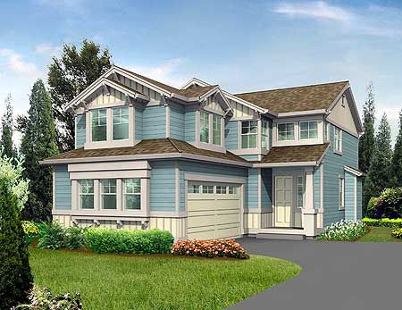 Plan 2300JD Northwest House Plan for Narrow Corner Lot Feelings