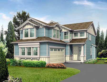 Delicieux Plan 2300JD Northwest House For Narrow Corner Lot Garden. Corner Lot Home  Designs.