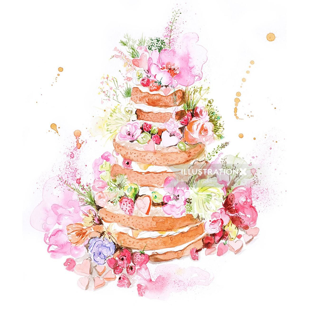 Enya Todd The English Garden Wedding Cake In 2020 Cake