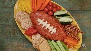 Football Cheeseball Recipe | The Chew - ABC.com